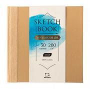 Малевичъ Скетчбук для акварели Premium Light 20х20 30 листов