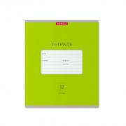 Тетрадь школьная ученическая ErichKrause® Классика Bright зеленая, 12 листов, клетка