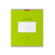 Тетрадь школьная ученическая ErichKrause® Классика Bright зеленая, 12 листов, линейка