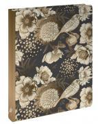 Райский сад с птицами. Блок с кольцами, А5, 96 л., с разделителями, зол. фольга