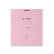 Тетрадь школьная ученическая ErichKrause® Классика розовая, 12 листов, клетка