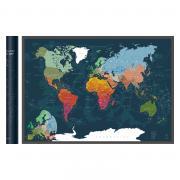 Скретч-карта мира A1 - 84 х 60 см (DEEP GREEN)