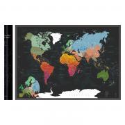 Скретч-карта мира A1 - 84 х 60 см (BLACK)