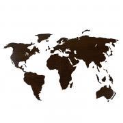 Деревянная карта мира 150х80 см Countries Rus с гравировкой стран и городов, венге
