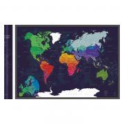 Скретч-карта мира A1 - 84 х 60 см (BLUE)