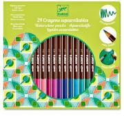 Набор Акварельных карандашей 24 штуки разных цветов для детей от 3 лет DJECO 09754
