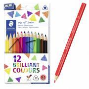 Карандаши цветные STAEDTLER Ergosoft,12 цветов, трехгранные