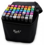 Набор маркеров Touch 48 цветов (Черный)