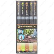 Маркер спиртовой Chameleon Color Tones CT0503 5 Earth Tones, 5 маркеров оттенки земли