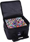 Маркеры (фломастеры) для скетчинга 168 штук (цветов) (набор профессиональных двухсторонних скетч маркеров в чехле)