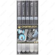 Маркер спиртовой Chameleon Color Tones CT0509 5 Gray Tones, 5 маркеров серых тонов