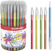 Ручка Erich Krause Cocktail шариковая синяя в ассортименте