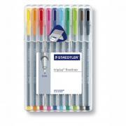 ST334SB10CS Набор ручек капиллярных Staedtler Triplus, 10 цветов, пластиковая коробка