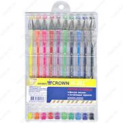 Ручка гелевая Crown Hi-Jell набор 10 цветов (HJR-500S/10)