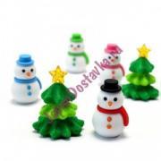 Фигурный 3D-ластик из серии Снеговик (на выбор Снеговик или Елка), IWAKO 1 шт