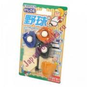 Сувенирный набор ластиков Puzzle Baseball Бейсбол, IWAKO 9 шт