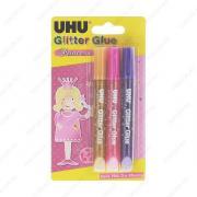 Клеящие блестки UHU Creativ Glitzerkleber Princess, для декорирования, 3 х 10 мл. (UHU 46430)