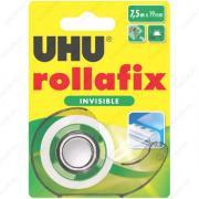 UHU 36960 Rollafix Invisible Клеящая лента невидимая 19 мм х 7,5 м., в диспенсере