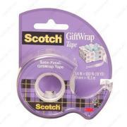 Клейкая лента канцелярская невидимая (скотч) Scotch GiftWrap 19mm x 7,5m с диспенсером (3M 15-EEME)