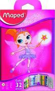 Пенал Maped Fairy, с наполнением, 31 предмет
