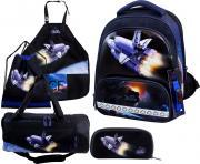 Ранец DeLune Full-set 9-126 + мешок + жесткий пенал + спортивная сумка + фартук для труда + часы