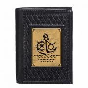 Кожаная обложка на документы с кошельком Моряку