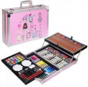 Набор для рисования «Набор художника» в металлическом чемодане (розовый)