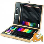 Художественный набор малый в чемоданчике 43 предмета для детей от 5 лет DJECO 08797