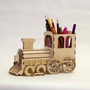 Конструктор Поезд (карандашница-копилка)