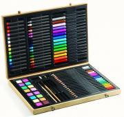 Djeco Большой набор для рисования, 80 предметов: карандаши, фломастеры, краски