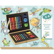 Художественный набор, мини, 22 предмета, для детей от 3 лет DJECO 09010