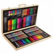 Художественный набор для рисования в деревянном чемоданчике, 220 предметов