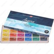 Краски акварельные Невская палитра Ладога художественные, набор 24 цвета, кюветы 2,5 мл (Невская Палитра 2041026)