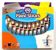Little Brian Краски в стиках-мини Без воды и кисточек! 24 классических цвета