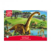 Альбом для рисования на клею ArtBerry® Эра динозавров, А4, 20 листов