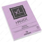 Альбом CANSON XL Marker для маркера. Белая гладкая бумага, 21х29.7см, 70г/м2, 100л, склейка по короткой стороне (200297236)