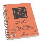 Альбом CANSON XL Croquis для графики. Слоновая кость, 21х29.7см, 90г/м2, 120л, спираль по длинной стороне (200787135)