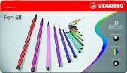 Фломастеры STABILO Pen 68, 47 цветов, 50 шт, в металлическом футляре