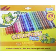 Набор фломастеров Superstars DUO 24 цвета JOLLY
