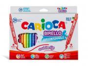 Фломастеры Carioca Birello 24 цвета 41521