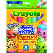 Фломастеры Crayola штампики Шопкинс 8 шт.