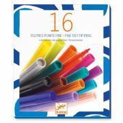 Набор цветных фломастеров 16 штук для детского творчества DJECO 08796