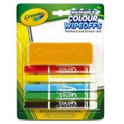 Набор стираемых фломастеров с губкой Crayola 98-9302