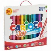"""Фломастеры CARIOCA """"Joy"""", 60 шт., 30 цветов, суперсмываемые, картонная коробка с ручкой, 41015"""