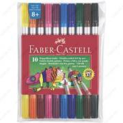 Фломастеры Faber-Castell двухсторонние, набор 10 цветов (151110)