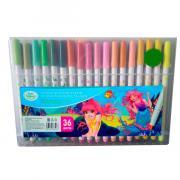 """Фломастеры Kid""""s Fantasy набор 36 цветов в пластмасовом пенале"""