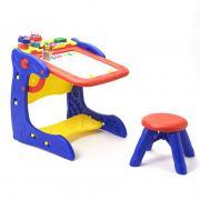 Парта-мольберт со стульчиком Учимся, играя с аксессуарами для детей от 3 лет Grow n up 5029
