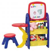Парта-мольберт со стульчиком и аксессуарами для детей от 3 лет Grow n up 5038