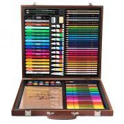 Набор для рисования DELI painting set wooden box