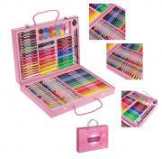 Набор для рисования в розовой коробке (106 предметов)